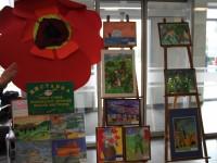 Відкриття виставки творчих робіт учнів відділення образотворчого мистецтва до Дня Перемоги»Перемога, свята Перемога!»